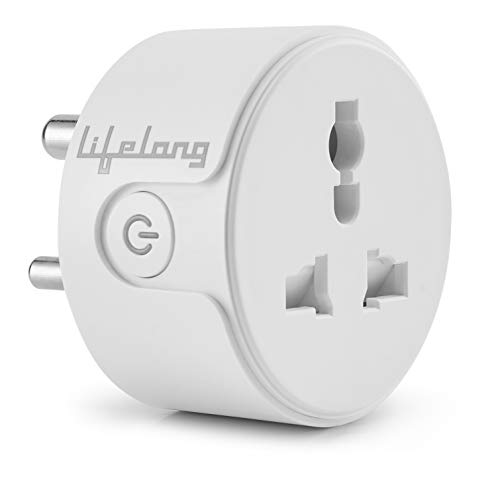 Lifelong 10A Smart Plug Suitable for Appliances Such as Televisions, Electric Kettle, Table Fans, Set top Box, Air purifiers(Compatible with Alexa and Google Assistant)