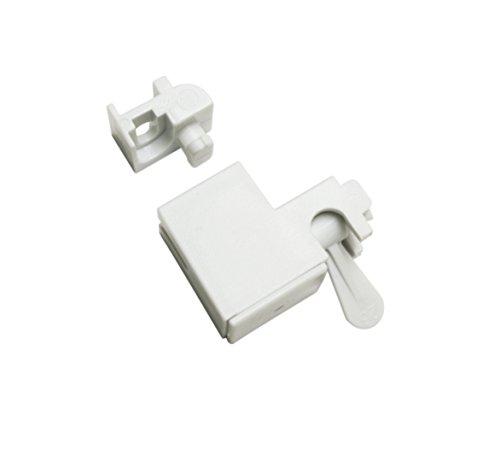 Gardinia Wand-und Deckenträger weiß 3, Aluminium, 3 x 2 x 3 cm, 4-Einheiten