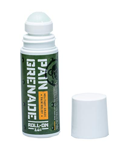 Roll On Pain Relief by Pain Grenade - Roll On Muscle Pain Reliever, Back Pain, Arthritis – with Arnica, Menthol, Camphor