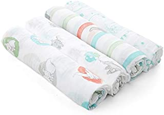 Aden by Aden + Anais Disney Swaddle Blanket | Muslin Blankets for Girls & Boys | Baby Receiving Swaddles | Ideal Newborn Gifts, Unisex Infant Shower Items, Toddler Gift, Wearable Swaddling Set, Dumbo