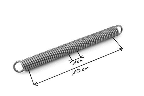 10Pcs Drahtdurchmesser von 1 mm Wei/ß verzinkt Au/ßendurchmesser 7mm Zugfeder mit Haken Zugfeder L/änge 20-60mm NO LOGO W-NUANJUN-Spring Gr/ö/ße : 1 x 7 x 20mm