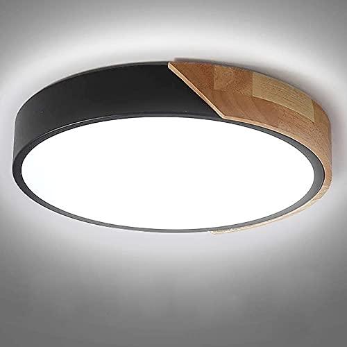 Kambo LED Lámpara de Techo Moderna Plafon Techo de Led 24W Redondo Para Techo 2400LM Blanco Frío 6000K Ceiling Light Para Habitacion Cocina Sala de Estar Dormitorio Pasillo Comedor Balcón
