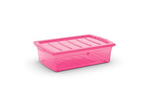 KIS 8631000 0656 04 - Caja de almacenaje plástico, 30 L, Color Rosa