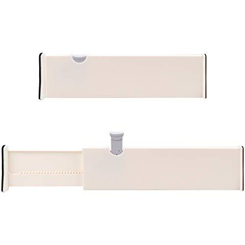 Kurtzy Separatori per Cassetti in Plastica Regolabili (Set da 2) - Organizzatore Cassetti Espandibili da 37,5 x 10 cm - Divisori per Cassetti Cucina, Organizer Cassetti Scrivania, Ufficio e Bagno