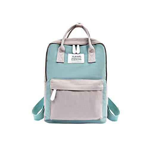 NICOLE & DORIS Rucksack für Damen Handtaschen Lässiger wasserdichte Rucksack Mädchen Schulrucksack für Laptop Hellblau