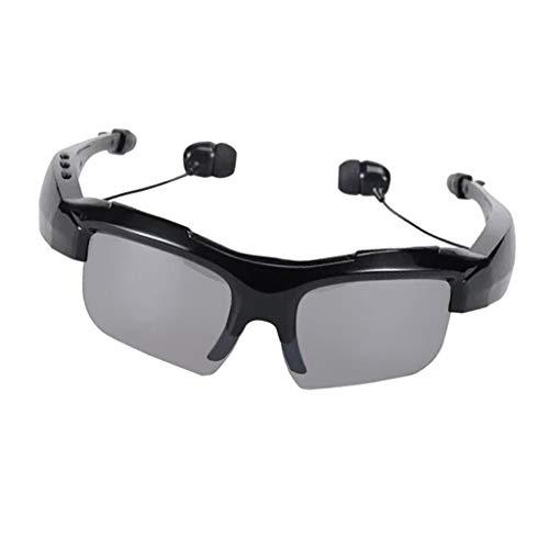 D DOLITY Drahtlose Sonnenbrille mit Freisprecheinrichtung Freisprech Musikempfänger Selfie Bluetooth 4.0 Headset - Schwarz