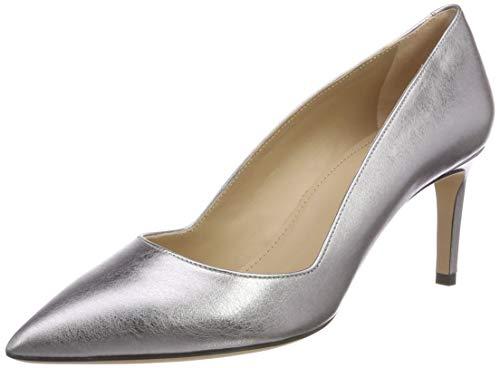 HUGO Damen Mayfair Pump 70-Lam Pumps, Silber (Silver 049), 38.5 EU