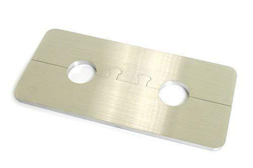 DUB SPENCER Exklusive Edelstahl Heizkörper Rosette ECKIG Doppelrosette für HEIZUNG (Rohrdurchmesser: 15mm)