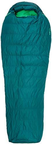 Marmot Unisex's Yolla Bolly 30 Mummy, 650 vulvermogen omlaag, extra lang, zeer lichte en warme slaapzak, botanische tuin/Kelly Green, 198 cm/linker rits