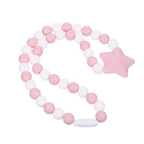 Artibetter Collares para Masticar Joyería Chewelry Collar de Mordedor de Bebé Collar de Lactancia de Silicona Juguetes para Masticar con Cuentas para La Dentición para Bebés Recién Nacidos