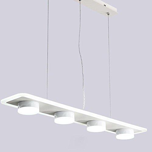 Lampe suspension LED lampe suspendue 6 flammes lampe plaque de plafond d'éclairage à lampe suspension moderne de lampe suspendue ronde rectangulaire LED SMD 61W fer et le panneau acrylique 95cm * 17cm