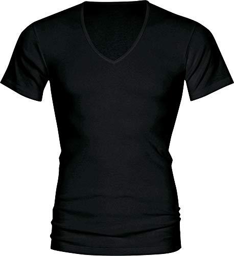 Mey Basics Serie Casual Cotton Herren Shirts 1/2 Arm Schwarz 6