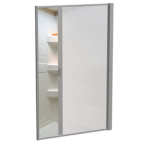 """Nautilus 65""""x36"""" RD RV Shower Door Opaque Plain - Nickel"""
