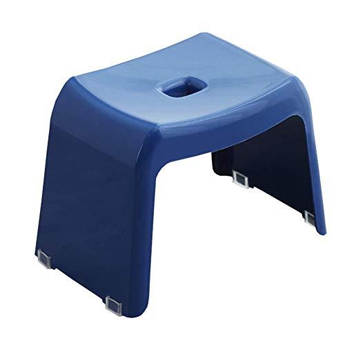 FSYGZJ Reposapiés Banco de Zapatos apilable Plástico Grueso Taburete Cuadrado pequeño Decoración del hogar Taburete de Maquillaje (Color: Azul, Tamaño: 37.5 * 24.5 * 26.5cm)