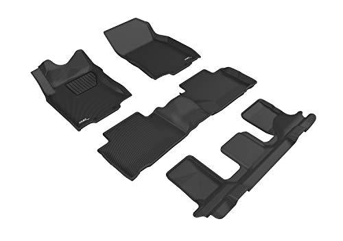 3D MAXpider L1NS10101509 Allwetter-Fußmatten für Nissan Rogue 2014 2020 passgenau Auto Bodenauskleidung Kagu Serie (1, 2. & 3. Reihe, Schwarz)