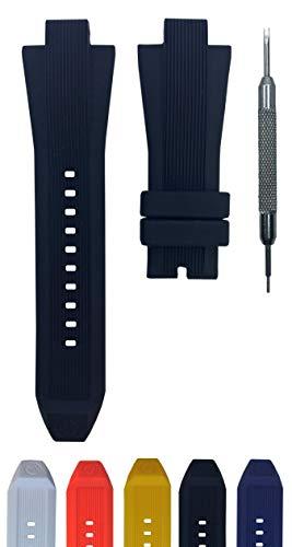 13x29mm Watch Band Suitable for MK8380 MK8356 MK8295 MK9026 | Free Spring Bar Tool (Black)