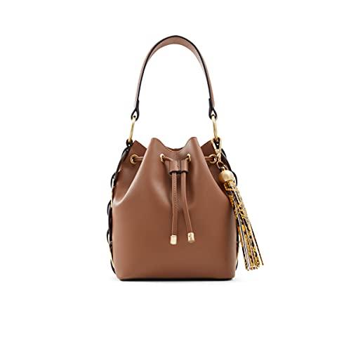 ALDO womens ALDO Women s Gisa Totes Bags, Cognac, Medium US