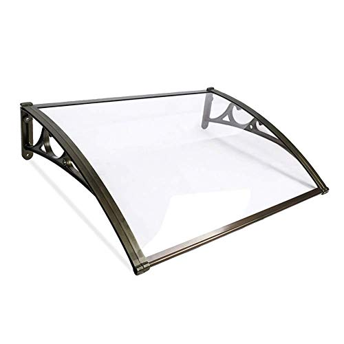 Canopy Door Awning Back Window Rain Snow Shelter Front Porch Non-rusting Lightweight Simple To Install Outdoor Shade Roof Cover UV Protection Extendable (Color : A, Size : 60cmx100cm)