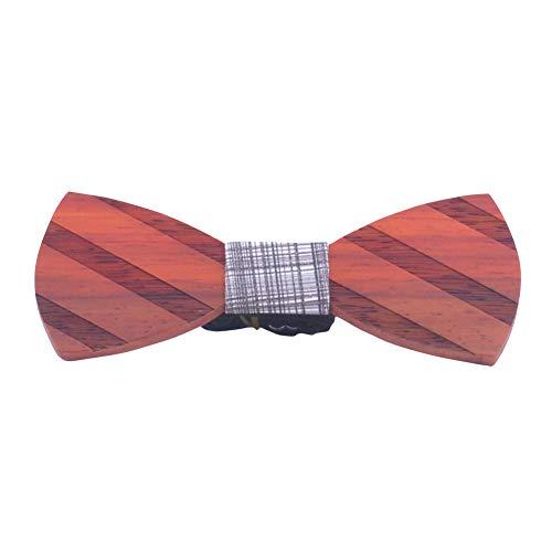 AIEOE - Pajaritas de Corcho para Hombre Corbata de Lazo de Madera Elegante para Fiesta Boda Regalo para Navidad Hombre