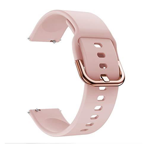 Correa de reloj de silicona original para reloj inteligente Galaxy Watch Active, correa de repuesto para reloj Samsung Galaxy, 20 mm para hombres (color de la correa: rosa1, ancho de la correa: 20 mm)