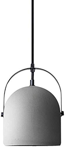 DJ Home Nordic Zement Beton Pendelleuchten, E27 kreative Industrie Dekoration hängende Lampen Schlafzimmer Restaurant Cafe Theke Kronleuchter-Größe Name: 16x23cm (Color : Gray, Größe : 16x23cm)