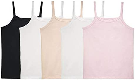 Fruit of the Loom Girls Big Undershirts Camis Tanks Cami 5 Pack Assorted Large product image