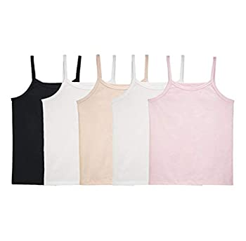 Fruit of the Loom Girls  Big Undershirts  Camis & Tanks  Cami-5 Pack-Assorted Large