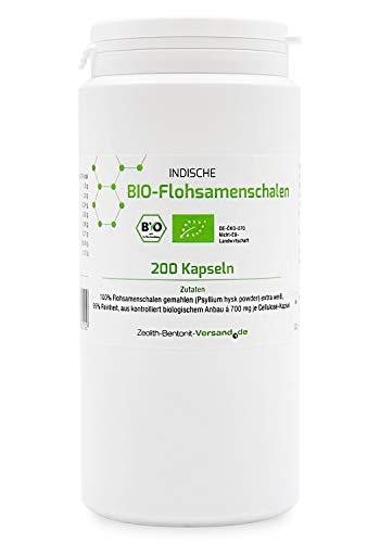 BIO-Flohsamenschalen 200 Kapseln (Psyllium) DE-ÖKO-070