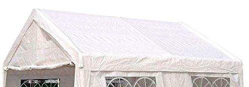 DEGAMO Ersatzdach Dachplane für Profi Partyzelt 3x4 Meter, PVC Weiss 480g/m², incl. Spanngummis …