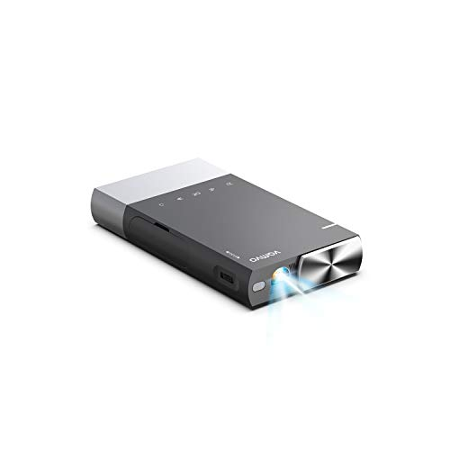 Mini Projector, Vamvo Ultra Mini Portable Projector 1080p Supported HD DLP LED Rechargeable Pico Projector with HDMI, USB, TF, and Micro SD, Supports iPhone Android Laptop PC Projectors for Outdoor