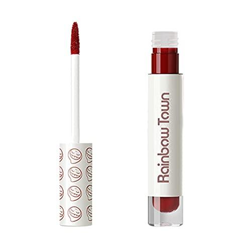 B/C Espejo lápiz Labial Textura Mate Impermeable Sudor Color Rico Esmalte de Labios de Larga duración Sexy Rojo hidratante Brillo de Labios cosmético