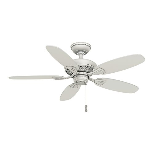 Casablanca Indoor Ceiling Fan, with pull chain control - Fordham 44 inch, White, 53194