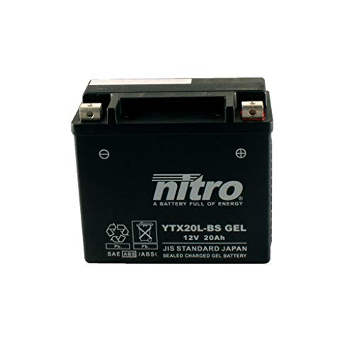 Batería 12 V 18 Ah YTX20L-BS Gel Nitro 51891 VRSCAW V-Rod 08-09