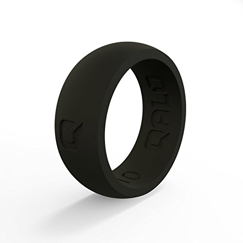 QALO Men's Black Classic Quality Q2X Silicone Ring Size 08