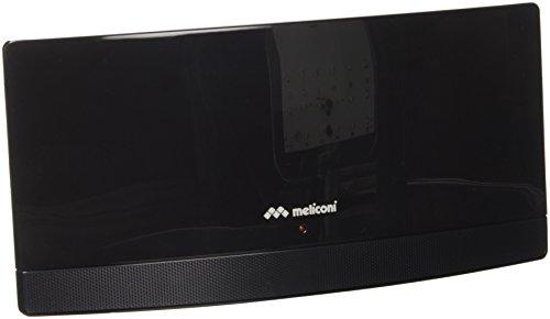 Meliconi AT55 Antenna TV Amplificata da Interni, per il segnale digitale terrestre, Design ultrasottile, Nero