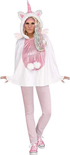 shoperama Einhorn Poncho Damen-Kostüm Cape Umhang Fabelwesen Unicorn Märchen Tier Fantasy