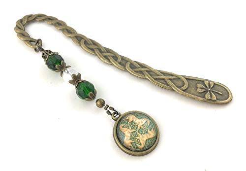 Beaded Celtic Bookmark with Horses - Gift for Reader