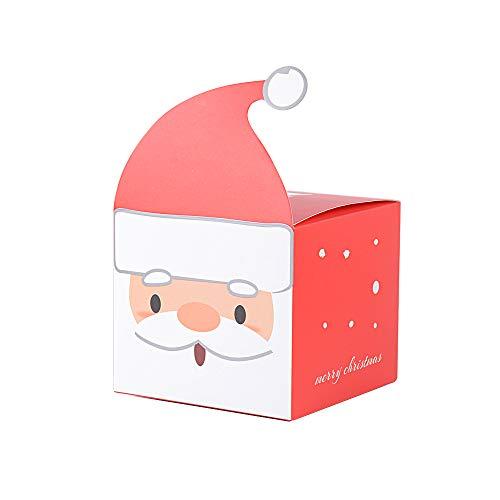 """25 stk 9*9*8cm """"Weihnachtsmann"""" Geschenkbox Weihnachten Geschenkschachtel klein für kleine Geschenke Süßigkeiten gastgeschenk box pralinenschachtel bonboniere"""