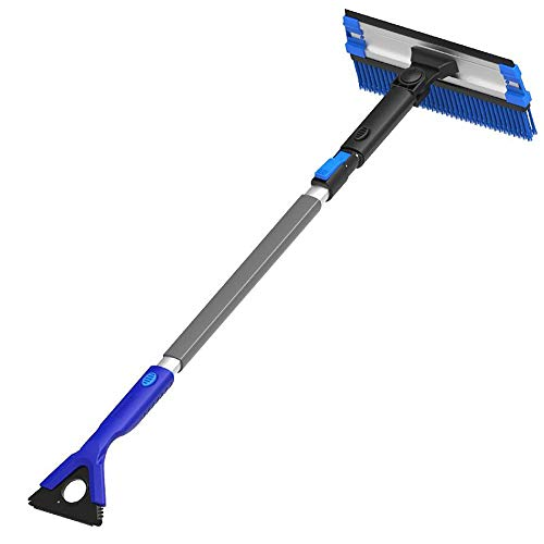 Review Of Jajx Collapsible Snow Shovel with Snow Brush Multifunctional Telescopic Defrost and Snow R...
