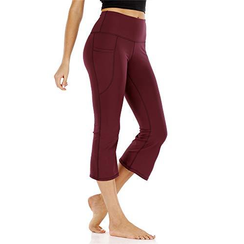 XPDD Sportleggins für Sport Laufen Yoga Sport und Freizeit Ausgestellte Hosen Atmungsaktive Stretch-Yoga-Hosen Stretch Leggings Hohe Taille Bootcut Yogahose Flare Hose Fitness Joga Sporthose