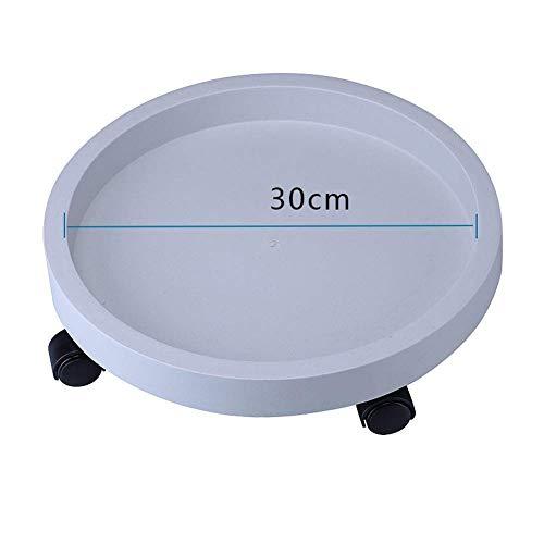 CHUTD Platillo de Maceta extraíble, Robusto, Redondo, de plástico, con Rodillos de 360 ° para el hogar, la Oficina, el balcón, M