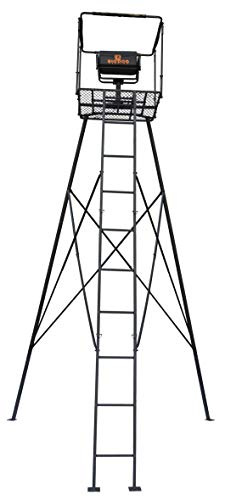 Check Out This Big Dog Hunting Command Tower Tripod with Ladder Entry, 16'