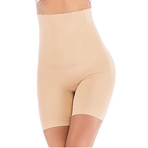 ANGOOL Culottes Sculptantes Femme Taille Haute Minceur Gainante Amincissante Ventre Plat Invisible Panty Abdominale Récupération Slip, Ecru, M