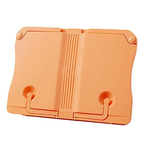 PTY Soporte de Lectura Aprenda a Leer el Estante, el Estante de Almacenamiento Plegable de Uso múltiple para los Cuadernos para Estudiantes de Primaria (Color : Orange)
