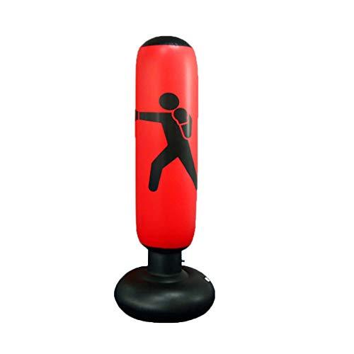 Bascar Boxsack,Standboxsack Boxsack Stehend Kinder/Erwachsene Punchingball Boxen Freistehender Boxsack Set,Aufblasbarer Boxsack Punching Kickbox Training Boxpartner Boxsackm 160cm (Rot)