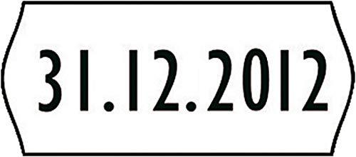Avery Zweckform 4WR1226 Handauszeichner-Etiketten, 12 x 26 mm, wiederablösbar, weiß