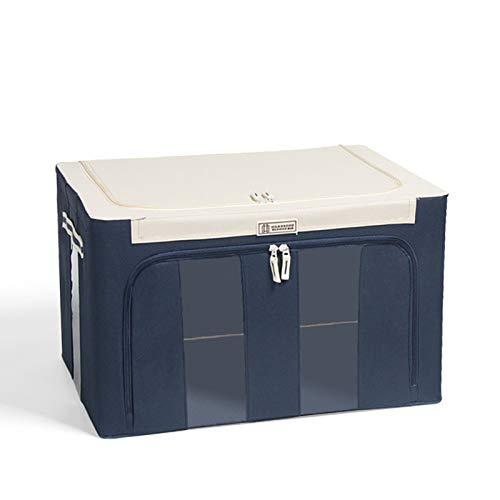 Bolsas de almacenamiento con cierre de cremallera, tela Oxford, marco de acero, multicolor opcional para ropa, sábanas, manta, almohadas, zapatero, contenedor organizador de 40 x 30 x 19,5 cm