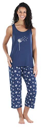 Sleepyheads Women's Sleepwear Jersey Lightweight Capri Pajama Set