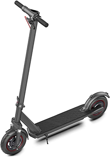 """Electric Kick Scooter for Adults 19 mph Speed 10"""" Solid Tires & 25 Miles Long Range..."""