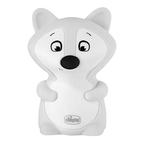 Chicco Luce Notte Volpe, Ricaricabile con USB, Bianco